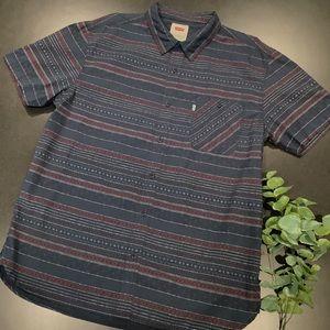 Levi's Button Up Print Stripe Collar Shirt